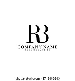 RB or BR Letter Initial Logo Design, Vector Template