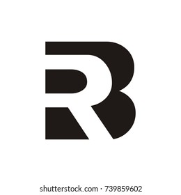 RB or BR logo initial letter design template vector