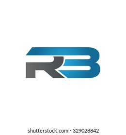 RB company linked letter logo blue