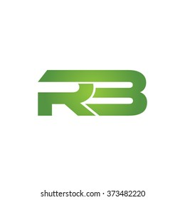 RB company linked letter logo green