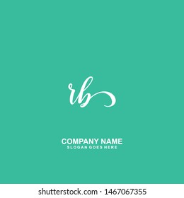RB Initial handwriting logo vector
