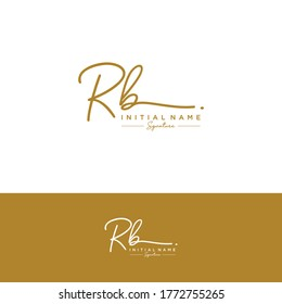 RB  Initial letter handwriting and signature logo.