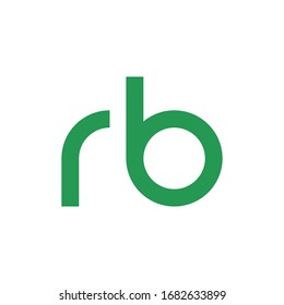 RB initial letter logo template vector icon design