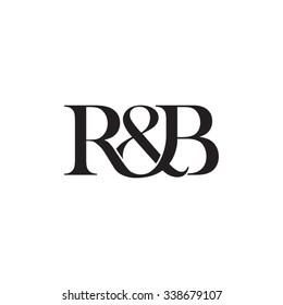 R&B Initial logo. Ampersand monogram logo