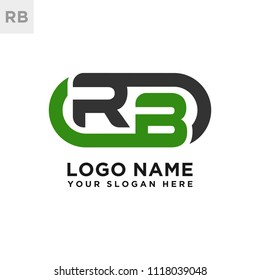 RB initial logo template vexctor