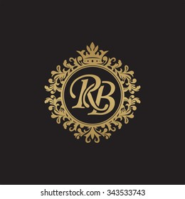 RB initial luxury ornament monogram logo