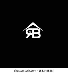 RB initials real estate roof logo icon vector free download