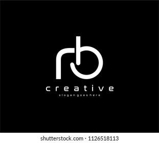 RB Letter Design Logo