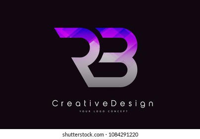 RB Letter Logo Design in Purple Texture Colors. Creative Modern Letters Vector Icon Logo Illustration.