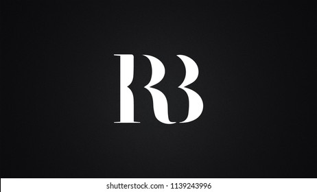 RB Letter Logo Design Template Vector