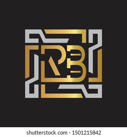 RB Letter logo initial capital monogram with abstract ornament