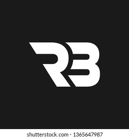 RB logo designed with letter R B in vector format.