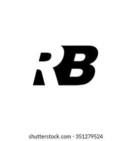 RB negative space letter logo