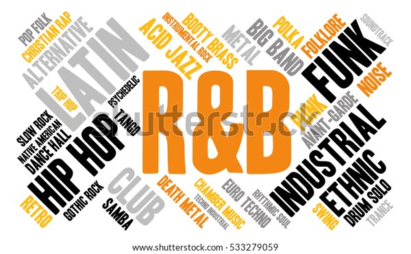 Rb Word Cloud Type Font White Stock Vector (Royalty Free