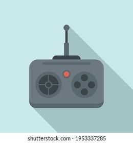 Rc car remote control icon. Flat illustration of Rc car remote control vector icon for web design