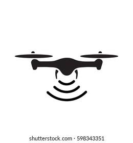 rc drone quadcopter  icon for website design, logo