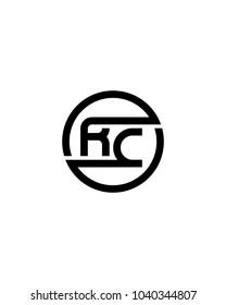 RC initial circle logo template vector
