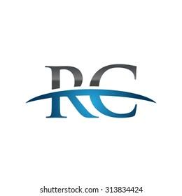 RC initial company blue swoosh logo