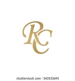 RC initial monogram logo