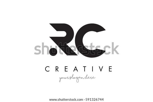Rc Letter Logo Design Creative Modern Stock Vector (Royalty