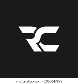 RC logo designed with letter R C in vector format.