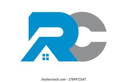 rc sign design vector logo illustration icon
