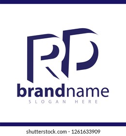 RD initial letter with negative space logo icon vector template