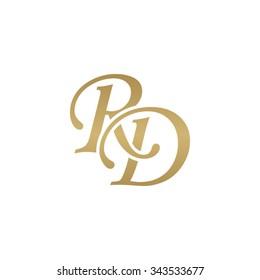 RD initial monogram logo