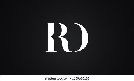 RD Letter Logo Design Template Vector