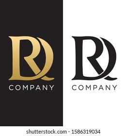 RD logo initial design luxury symbol