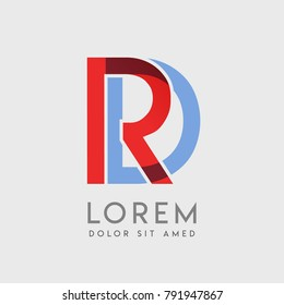 """RD logo letters with """"blue and red"""" gradation"""