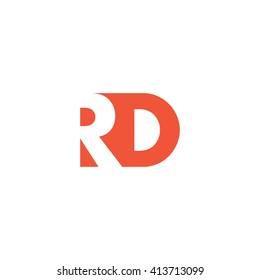 RD Logo. Vector Graphic Branding Letter Element. White Background