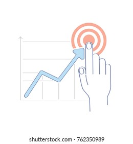 analytics data analysis concept cartoon man stock vector royalty