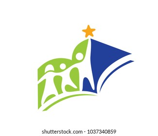 Reaching Star Education Logo In White Background Illustration