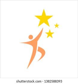 REACHING STAR SUCCESS LEADER LOGO DESIGN
