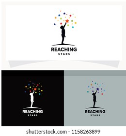 Reaching Stars Logo Design Template