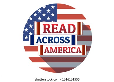 Read Across America Day concept. Template for background, banner, card, poster with text inscription. Vector EPS10 illustration