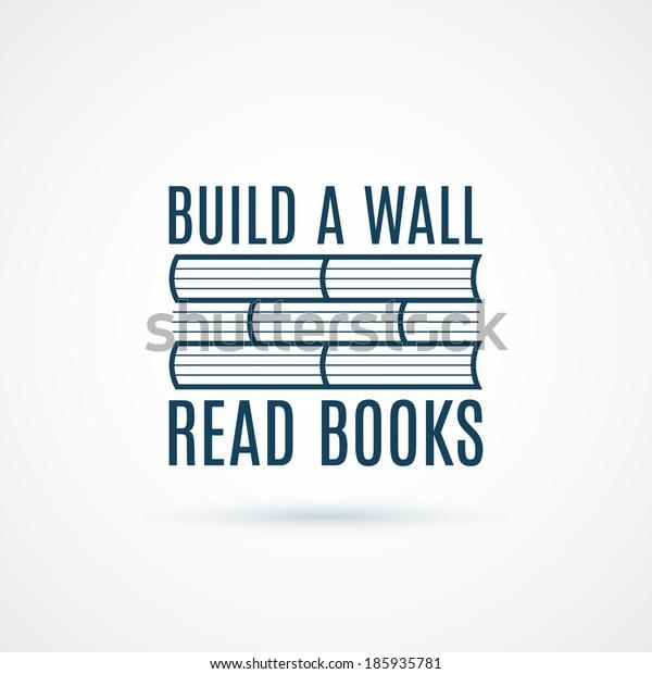 Read books concept icon. Vector illustration