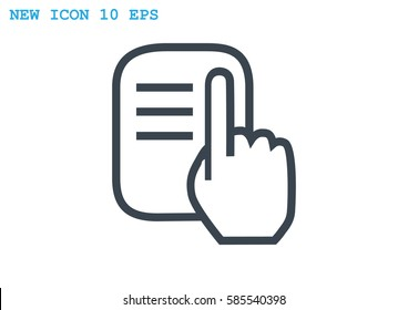 read Icon Vector.