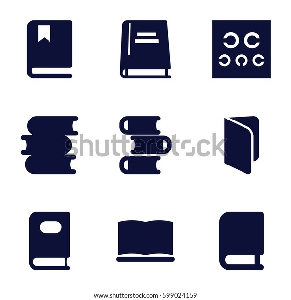 read icons set. Set of 9 read filled icons such as book