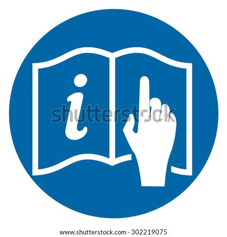 Read Instructions Symbol Vector Icon Stock Vector Royalty Free