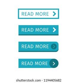 Read more blue set buttons. Vector illustration