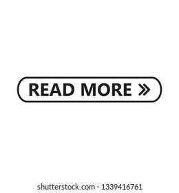read more button icon vector