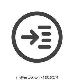 Read more icon vector