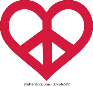 Heart Peace Sign Images, Stock Photos & Vectors | Shutterstock