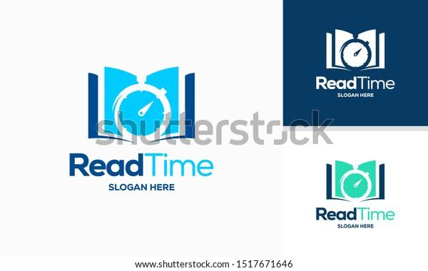 Read Time Logo Designs Concept Vector Stock Vector Royalty Free 1517671646