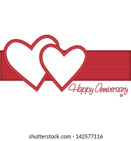 Read Two Hearts Entwined Happy Anniversary Card Vector
