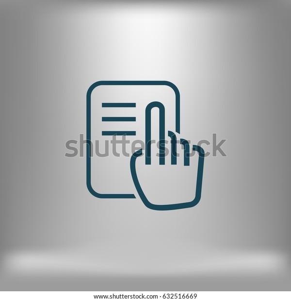 Read vector icon