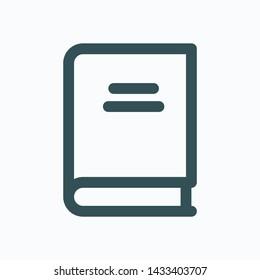 Reading book hobby isolated icon,  encyclopedia linear vector icon
