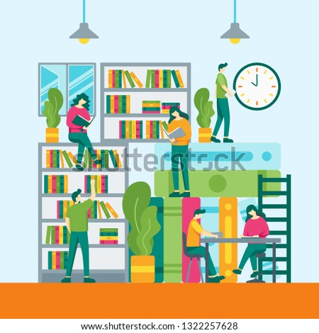 reading book library website online book stock vector royalty free rh shutterstock com